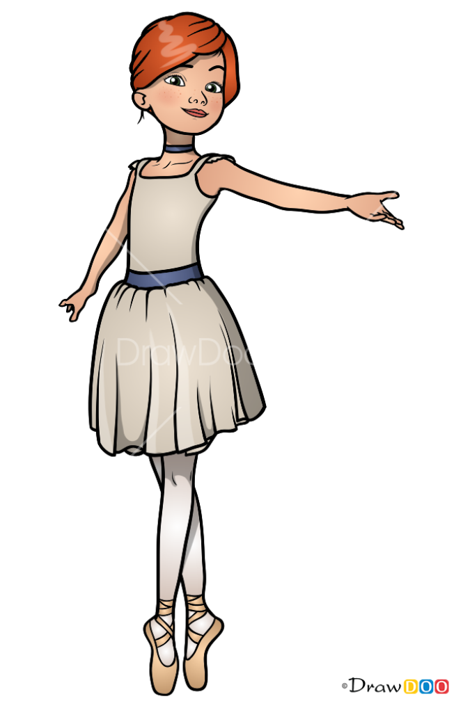 How to Draw Ballerina Felicie, Ballerina