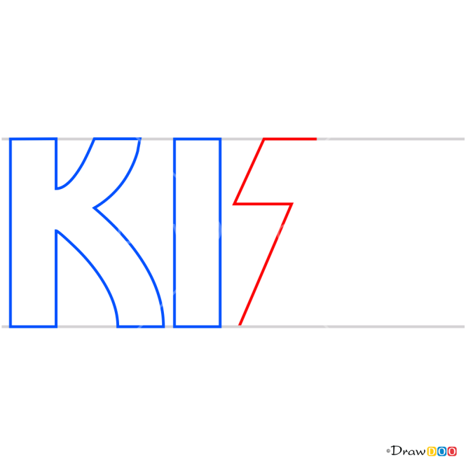 How to Draw Kiss, Bands Logos