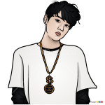 How to Draw Jung Kook, Bangtan Boys