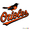 How to Draw Baltimore Orioles Logo, Baseball Logos