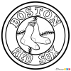 how to draw boston red sox baseball logos