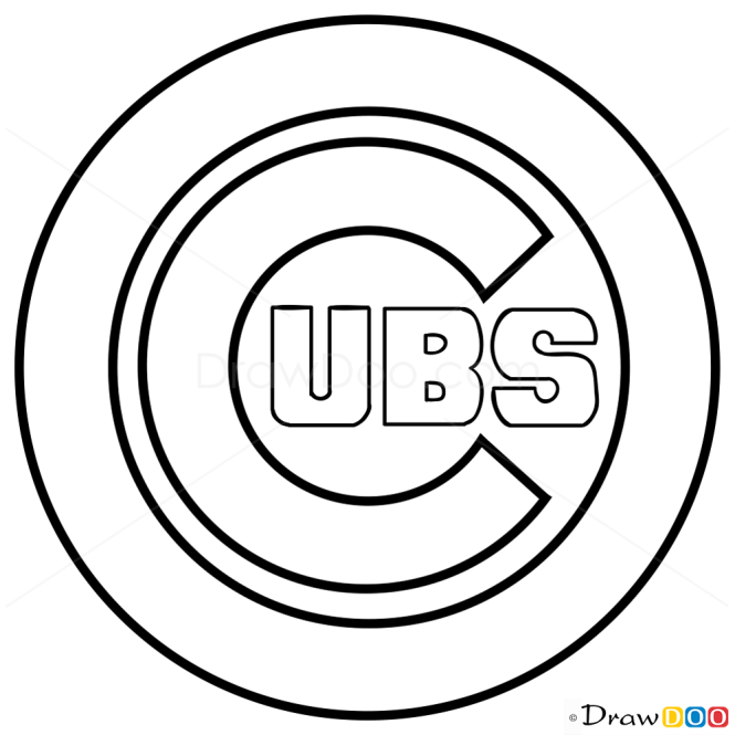 How To Draw Chicago Cubs Baseball Logos
