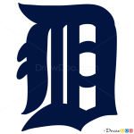 How to Draw Detroit Tigers, Baseball Logos
