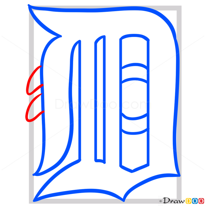how to draw baseball team logos step by step