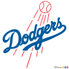 how to draw los angeles dodgers baseball logos