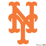 How to Draw New York Mets, Baseball Logos