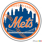 How to Draw N.Y Mets, Baseball Logos