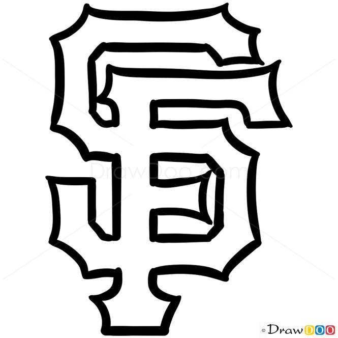 How To Draw San Francisco Giants Baseball Logos