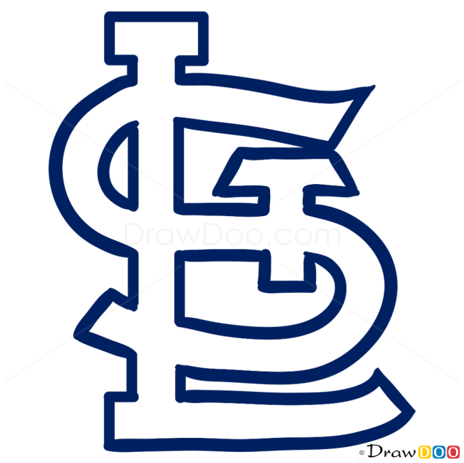 How to Draw St. Louis Cardinals, Baseball Logos