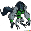 How to Draw Blitzwolfer, Ben 10