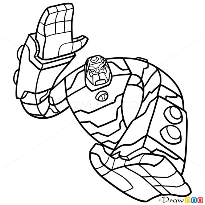 how to draw bloxx ben 10