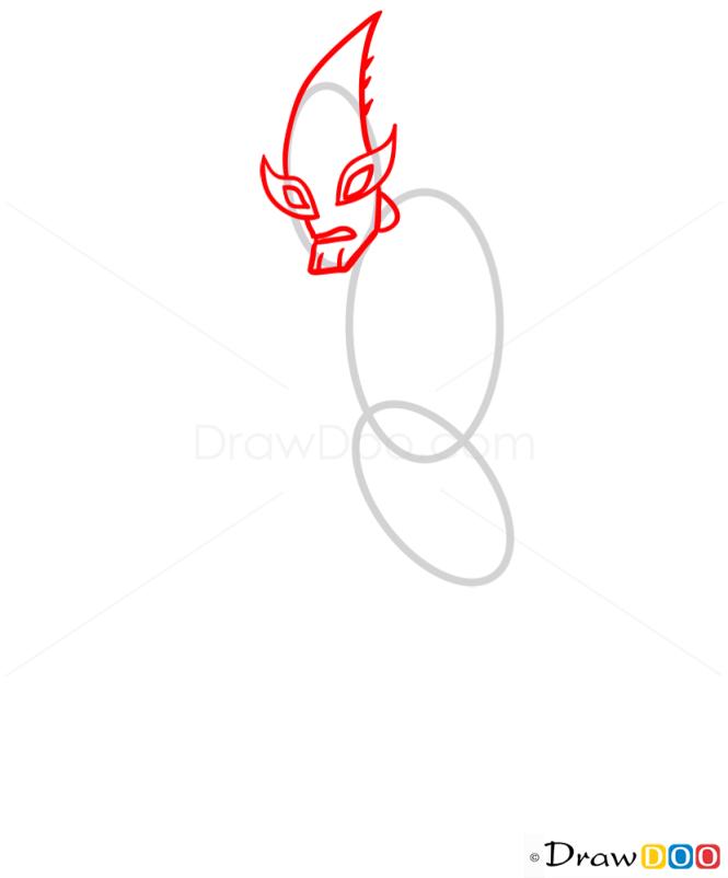 How to Draw Crashhopper, Ben 10