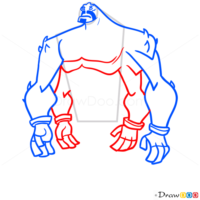 How to Draw Four Arms, Ben 10