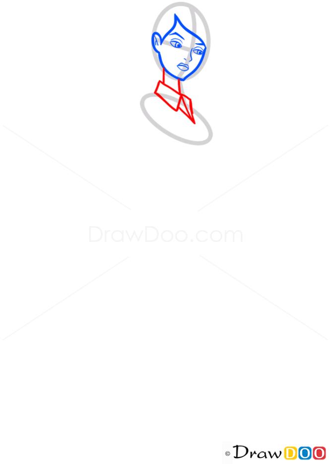How to Draw Gwen Tennyson, Ben 10