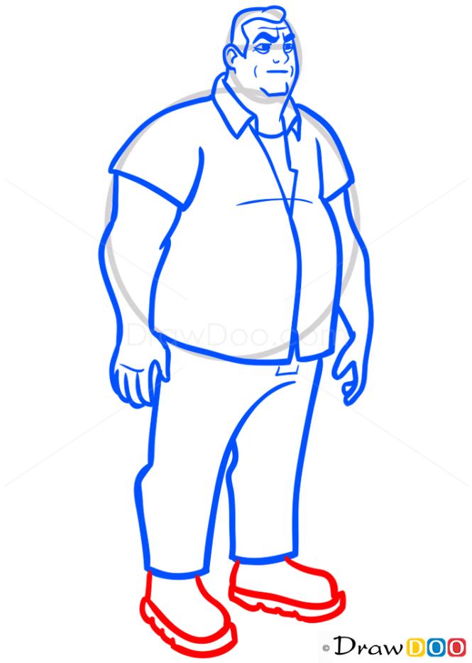 How to Draw Grandpa Max, Ben 10