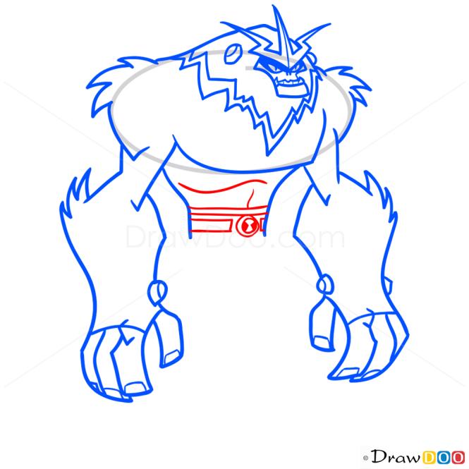 How to Draw Shockquatch, Ben 10