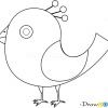 How to draw bird of paradise birds