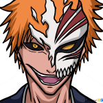 How to Draw Ichigo Kurosaki, Mask, Bleach Manga