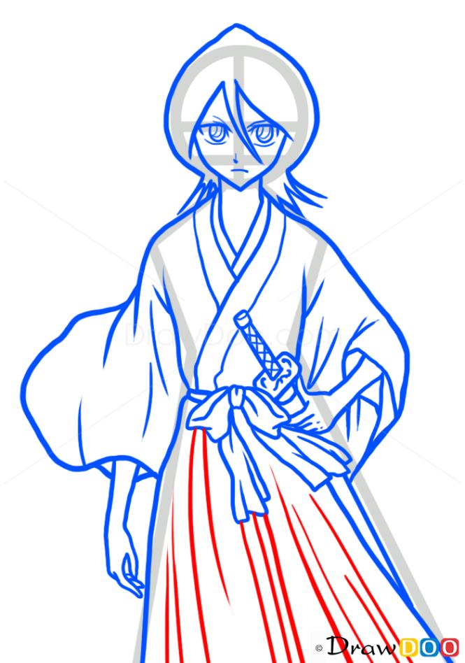 How to Draw Rukia Kuchiki, Bleach Manga
