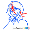 How to Draw Rukia Kuchiki, Face, Bleach Manga