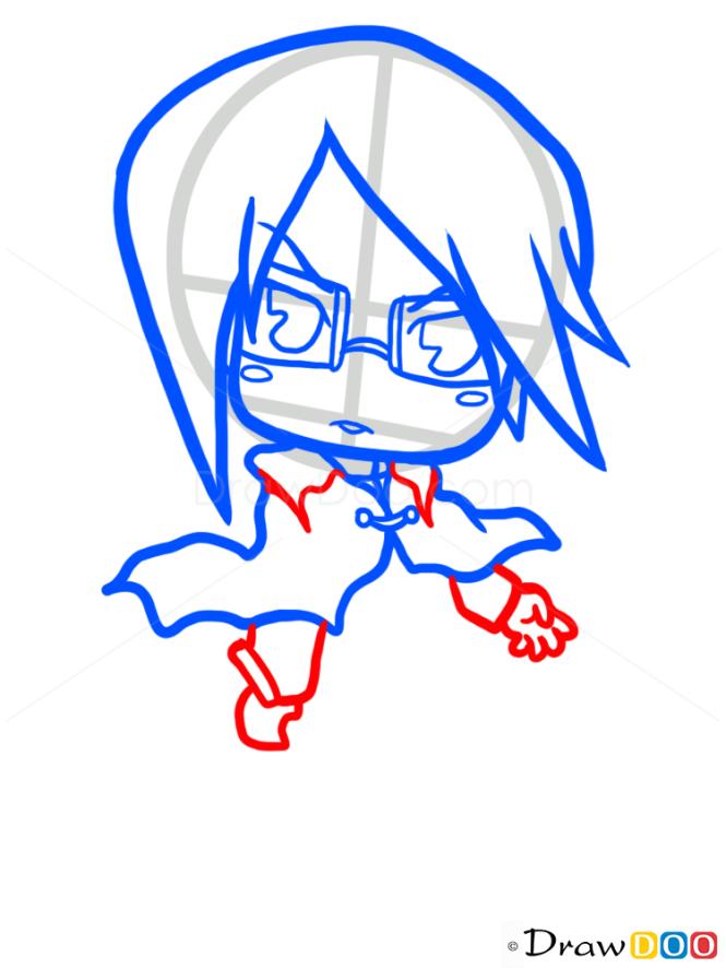 How to Draw Uryu Ishida, Chibi, Bleach Manga