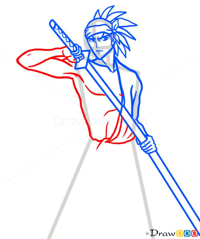 How to Draw Renji Abarai, Bleach Manga
