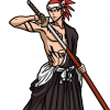 How to Draw Renji Abarai, Bleach Manga