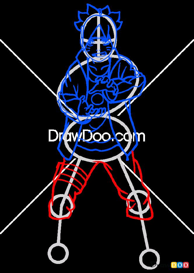 How to Draw Boruto Uzumaki, Boruto