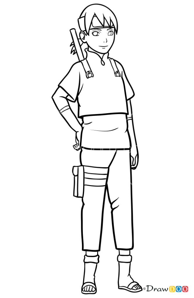 How to Draw Inojin Yamanaka, Boruto