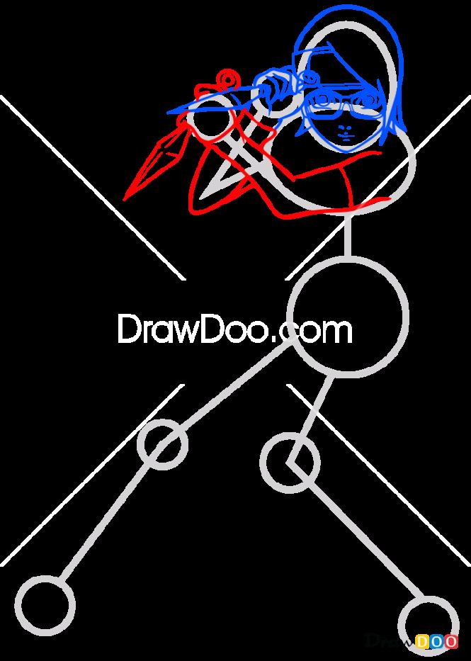 How to Draw Sarada Uchiha, Boruto
