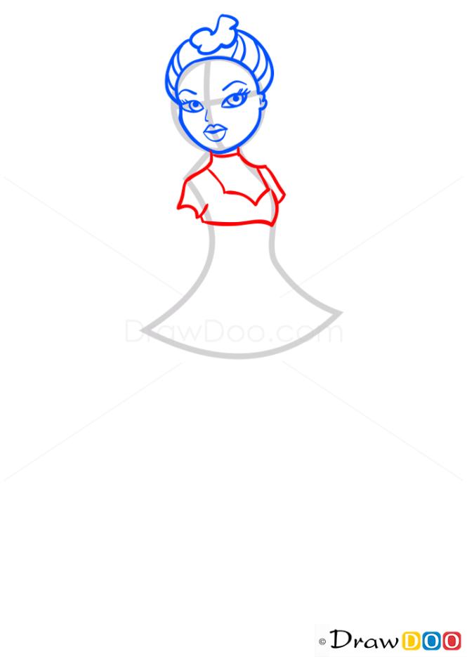 How to Draw Yasmin Action Heroez, Bratz
