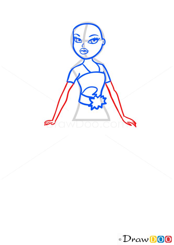 How to Draw Shira Action Heroez, Bratz