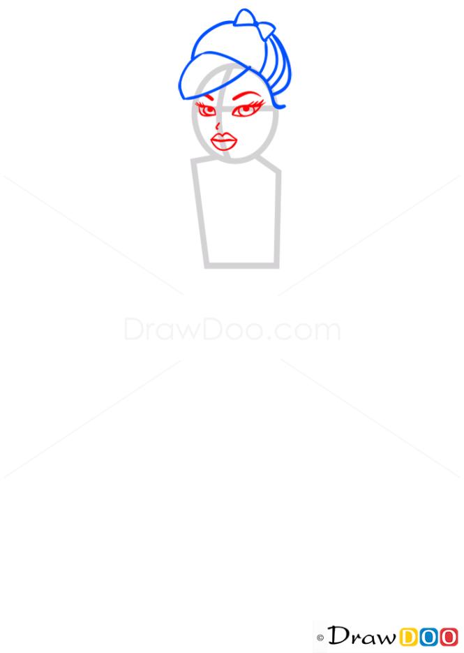 How to Draw Sasha My Passion, Bratz