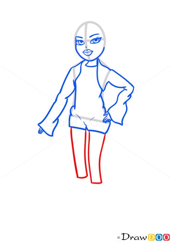 How to Draw Cloe Twisty Style, Bratz