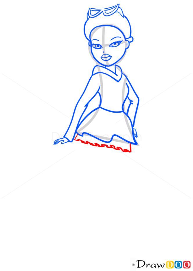 How to Draw Meygan Kool Katz, Bratz
