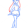 How to Draw Meygan Kool Katz, Bratz