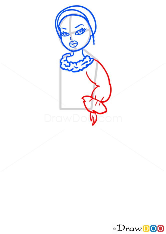 How to Draw Fianna Totally Polished, Bratz