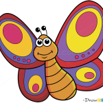 How to Draw Cartoon Butterfly, Butterflies