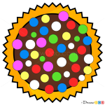 How to Draw Color Bomb, Candy Crush