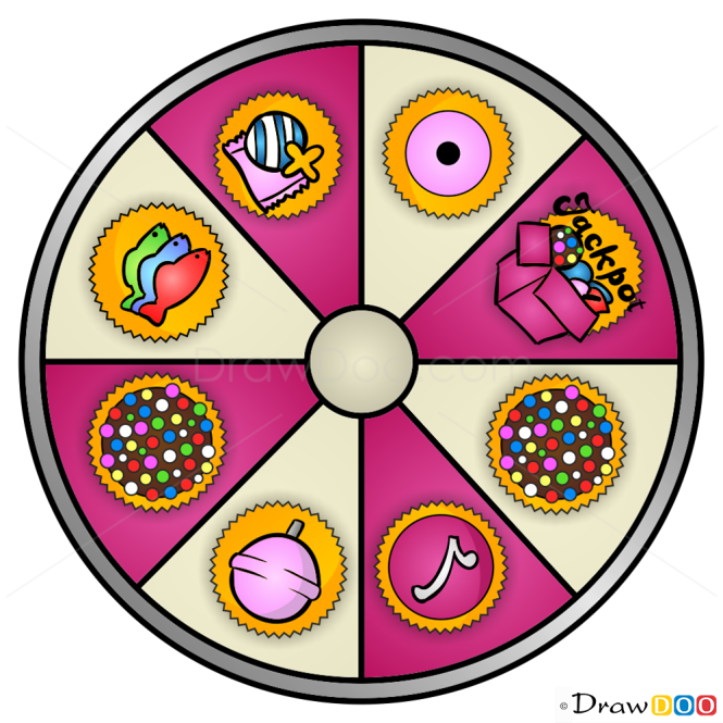 How to Draw Booster Wheel, Candy Crush