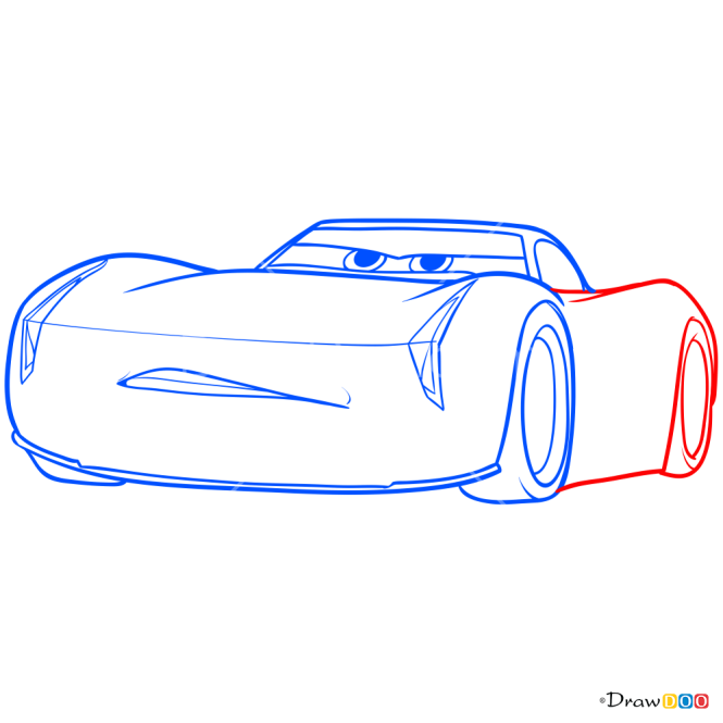 How to Draw Jackson Storm, Cars