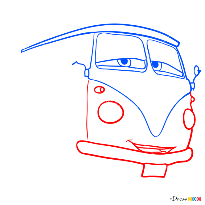 How to Draw Fillmore, Cars