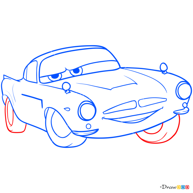 How to Draw Finn McMissile, Cars