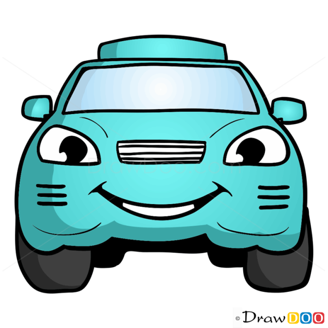 How To Draw Turquoise Car Cartoon Cars
