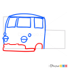 How to Draw Orange Truck, Cartoon Cars