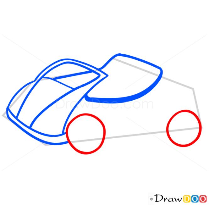 How to Draw Sport Car, Cartoon Cars
