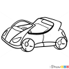 How to Draw Sport Car, Cartoon Cars