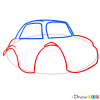 How to Draw Grumpy Car, Cartoon Cars