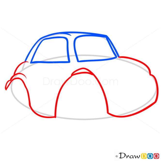How to Draw Grumpy Car, Cartoon Cars