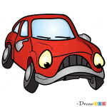 How to Draw Gloomy Car, Cartoon Cars